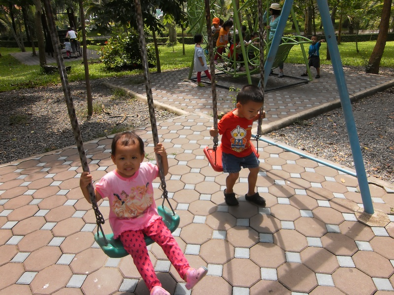 Swings in the park